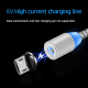 Cablu de incarcare si transfer 3 in 1, 3A fast charge, magnetic