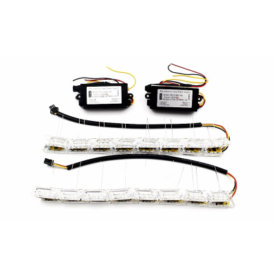 Set 2 Benzi 12 LED Faruri Auto White X Amber
