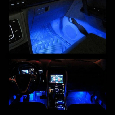 Lumini ambientale masina TY-780, auto, interior, LED ICE Blue