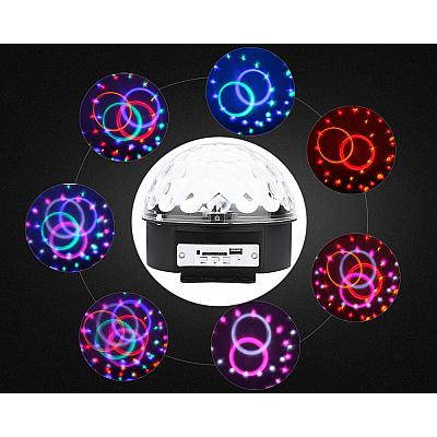 Glob Disco Cu Boxa Laser Club Cu Telecomanda, Redare Audio Mp3