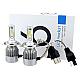 Set de 2 Lampi LED Auto 6000K H4 cu 2 FAZE